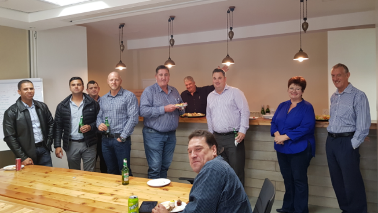 2018: The opening of the pub in our new offices, still without any character yet.