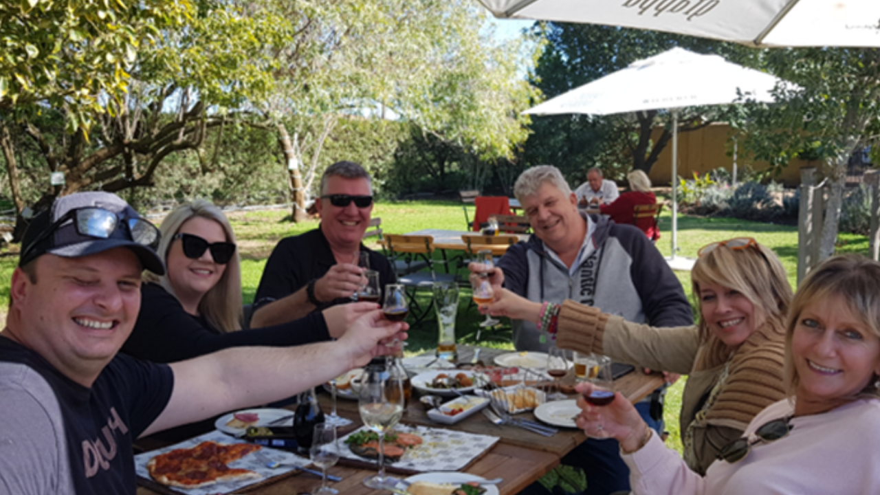 2019: The 90 day challenge qualifiers and their spouses celebrating in Franschoek.